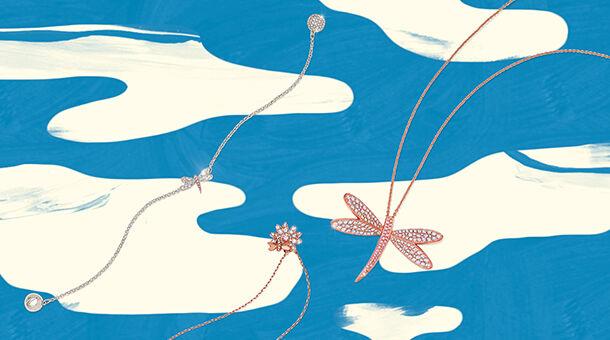 mother's day, swarovski, necklace, flower, bracelet