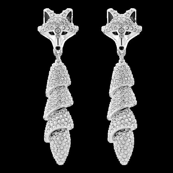 أقراط الأذن المثقوبة Polar Bestiary Drop، متعدد الألوان ، مطلي بالروديوم