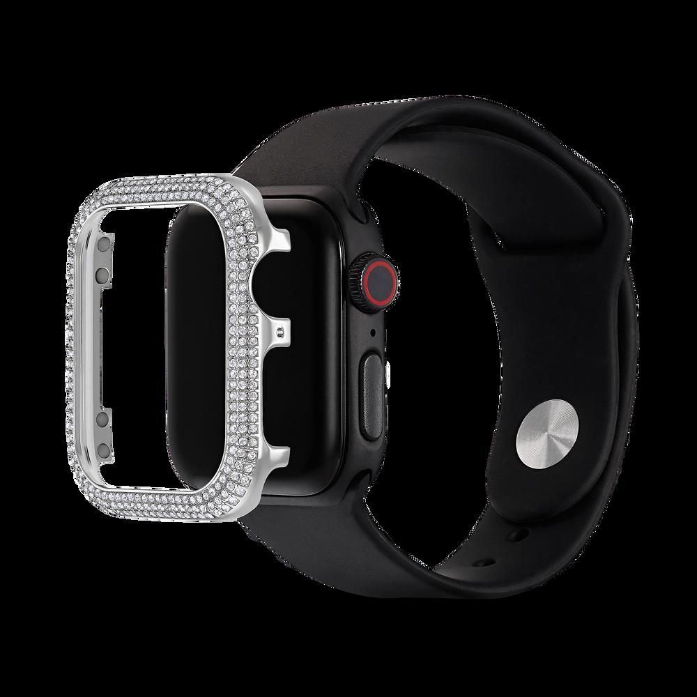 حافظة 40 مم برّاقة متوافقة مع ساعة ®Apple، لون فضي