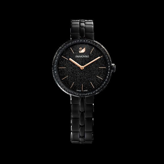 ساعة Cosmopolitan، سوار معدني، لون أسود، طلاء أسود بتقنية PVD