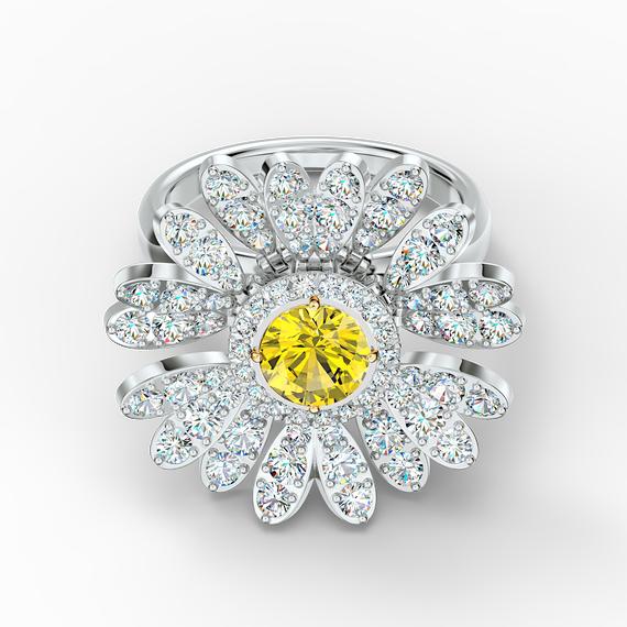 خاتم Eternal Flower لون أصفر، لمسة نهائية من معادن مختلطة