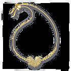 إسوارة النخلة من مجموعة سواروفسكيSymbolic، متعددة الألوان الفاتحة، مطلية باللون الذهبي