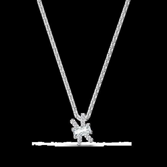 حلية متدلية Zodiac II، برج الحوت، لون أبيض، لمسة نهائية من معادن مختلطة
