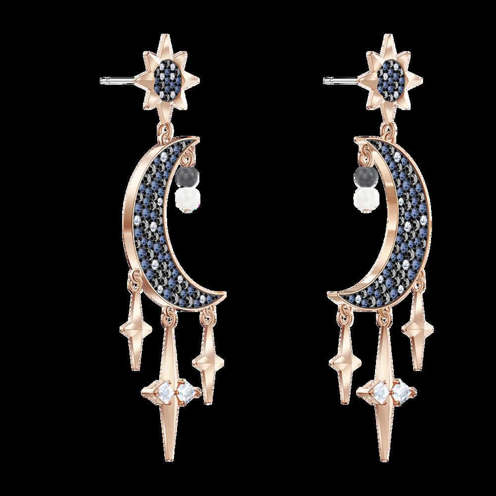 أقراط Swarovski Symbolic للأذن المثقوبة، متعددة الألوان، لمسة نهائية من معادن مختلطة
