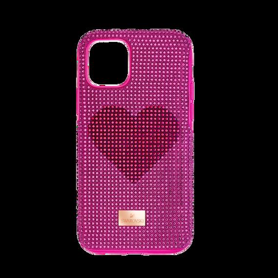 غطاء هاتف ذكي Crystalgram على شكل قلب بمصد مدمج،  iPhone® 11 Pro وردي اللون