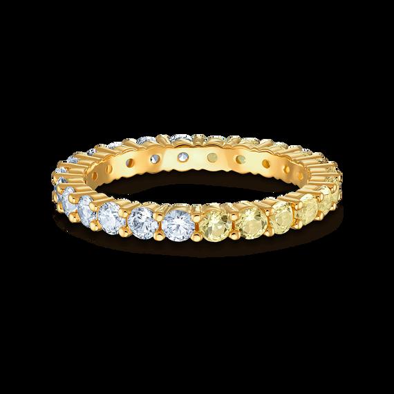 خاتم Vittore المنقسم إلى نصفين، ذهبي اللون، مطلي باللون الذهبي
