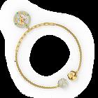 سوار حامل لشكل أُم من مجموعة Swarovski Remix، متعدد الألوان الفاتحة، مطلي باللون الذهبي