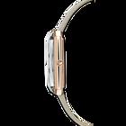ساعة Uptown، سوار جلد، لون رمادي، طلاء ذهبي وردي بتقنية PVD