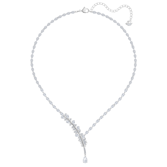 The Nice Necklace, White, Rhodium plated