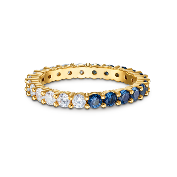 خاتم Vittore المنقسم إلى نصفينXL، أزرق اللون، مطلي باللون الذهبي