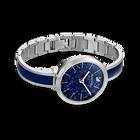ساعة Crystalline Delight، سوار معدني، أزرق، ستانلس ستيل