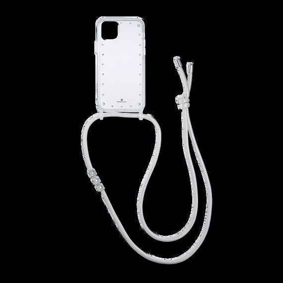قلادة بها حافظة للهاتف الذكي مزودةٌ بمصدٍّ مُمتصٍّ للصدمات، iPhone® 11 Pro Max، لون أبيض