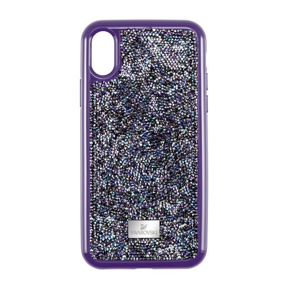 غطاء هاتف ذكي Glam Rock بمصد، iPhone® XS Max ، أرجواني