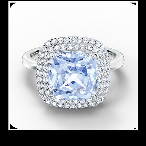 خاتم Angelic، لون أزرق، طلاء روديوم