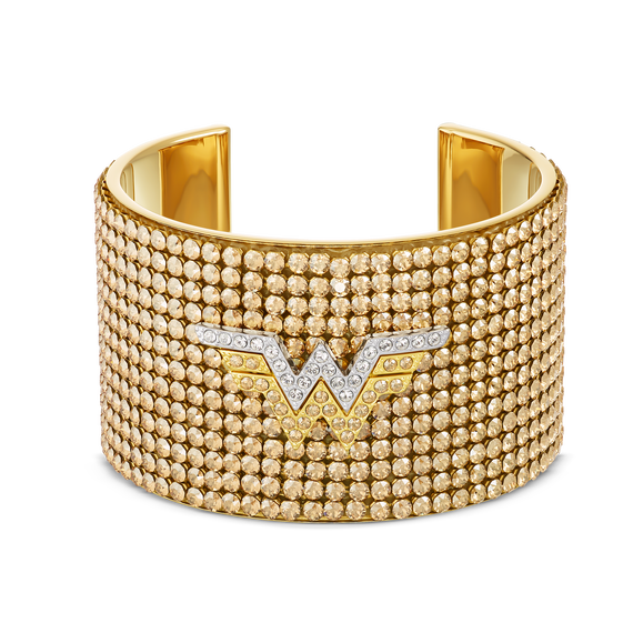 إسورة Fit Wonder Woman، لون ذهبي، لمسة نهائية  من معادن مختلطة