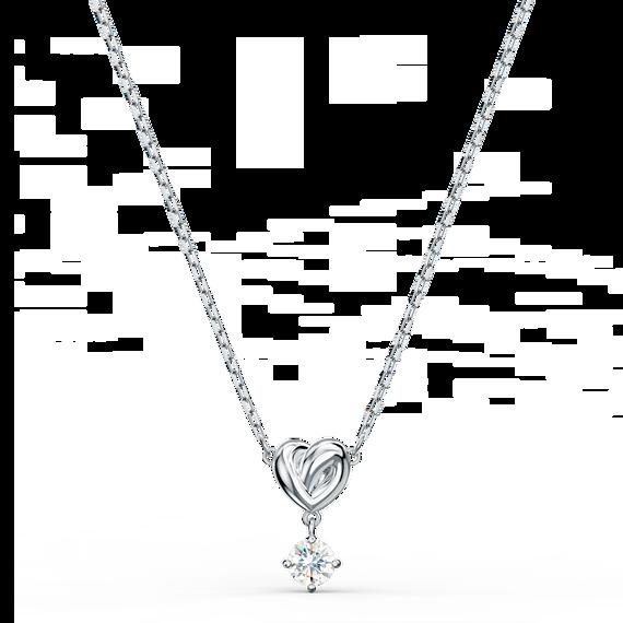 تعليقة Lifelong Heart، بيضاء اللون، مطلية بالروديوم