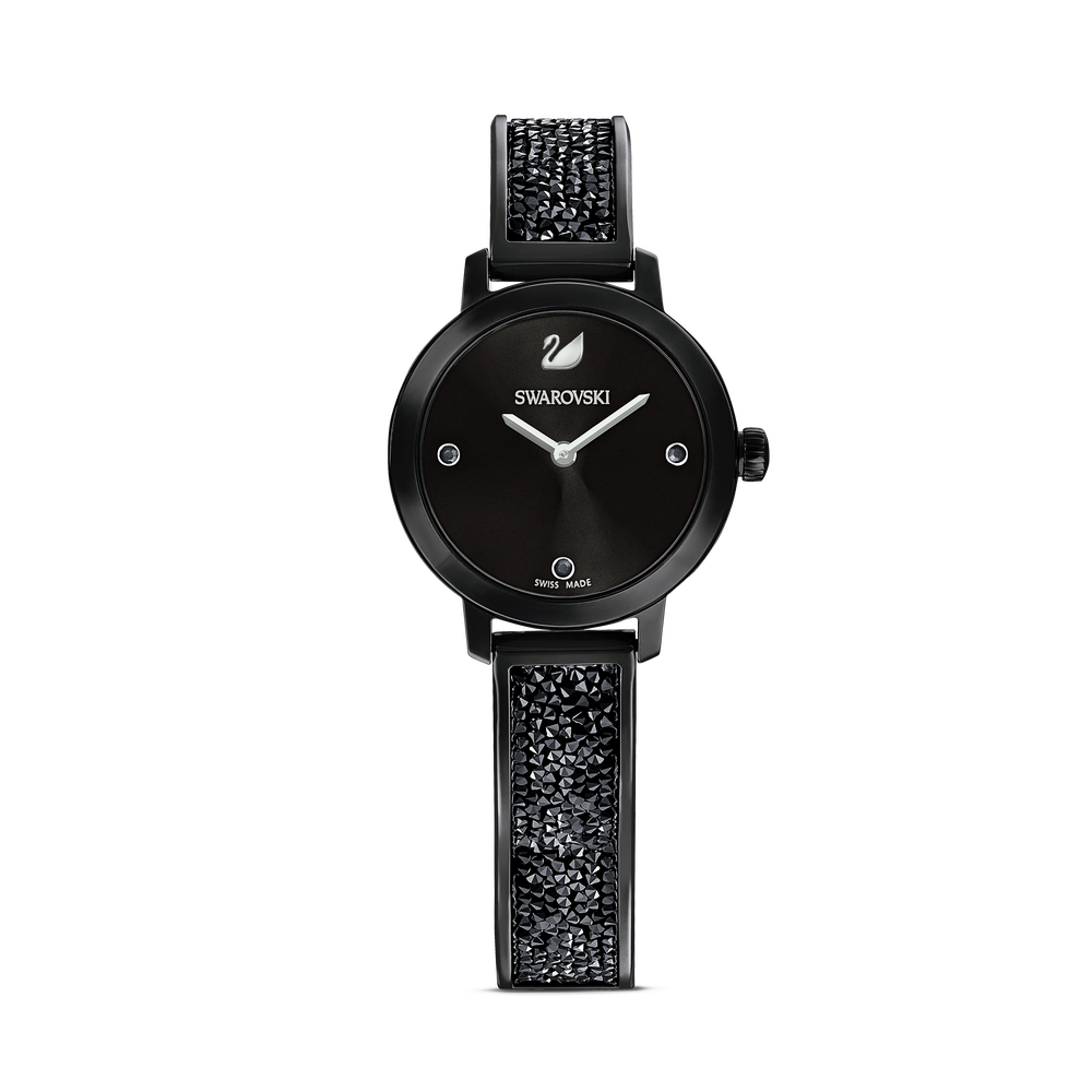 ساعة Cosmic Rock، سوار معدني، أسود