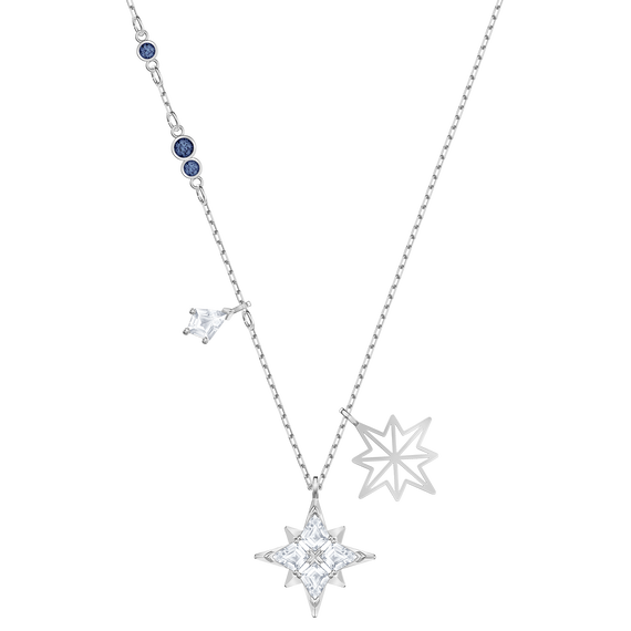 قلادة Symbolic من سواروفسكي على شكل نجم ، أبيض ، طلاء روديوم