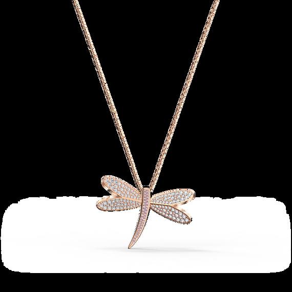 سلسلة Eternal Flower بيضاء اللون، مطلية باللون الذهبي الوردي