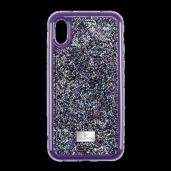 غطاء هاتف ذكي GLAM ROCK بمصد، iPhone® X/XS ، أرجواني