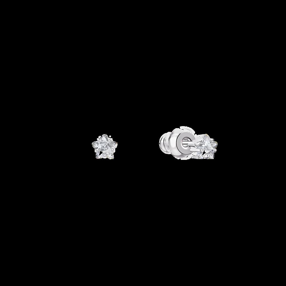 أقراط الأذن المثقوبة Moonsun ، أبيض ، طلاء روديوم