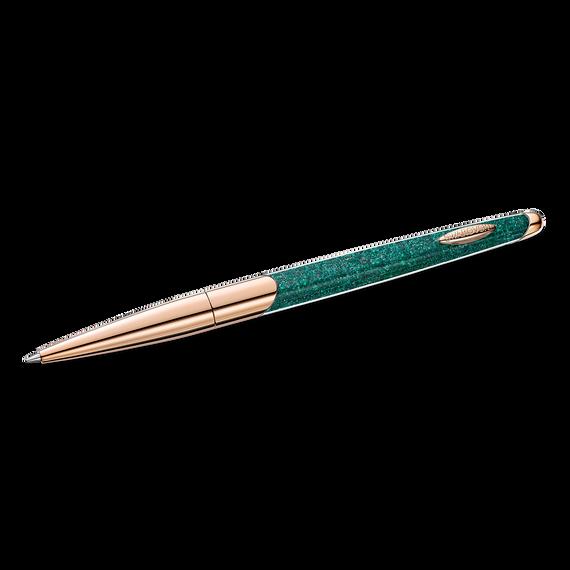 قلم حبر جاف Crysralline Nova أخضر اللون مطلي باللون الذهبي الوردي