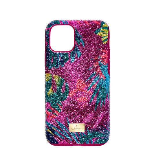 غطاء هاتف ذكي من مجموعة Tropical بمصد مدمج، iPhone® 11 Pro ، متعدد الألوان الغامقة