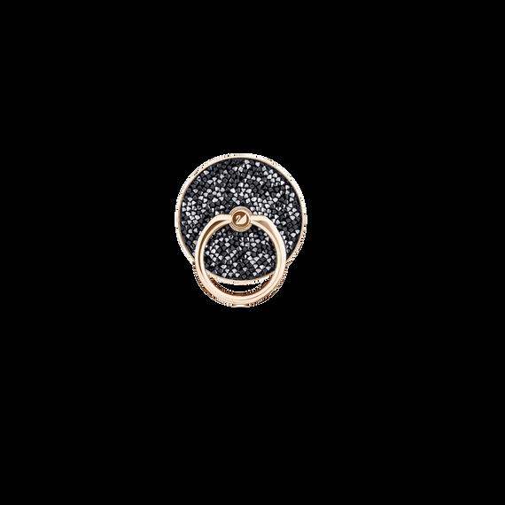 ملصق حلقي Glam Rock، أسود، بطلاء مختلط
