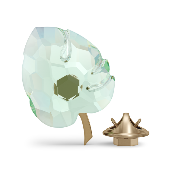 مغناطيس بتصميم ورقة شجر من Jungle Beats، لون أخضر، حجم كبير