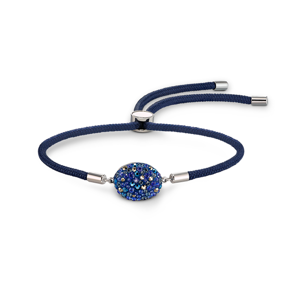 سوار عنصر الماء Swarovski Power Collection، لون أزرق، ستانلس ستيل