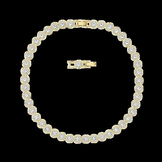 عقد Angelic ، أبيض ، مطلية باللون الذهبي