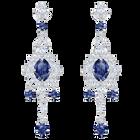 أقراط الأذن المثقوبة  Palace Chandelier، أزرق ، طلاء روديوم