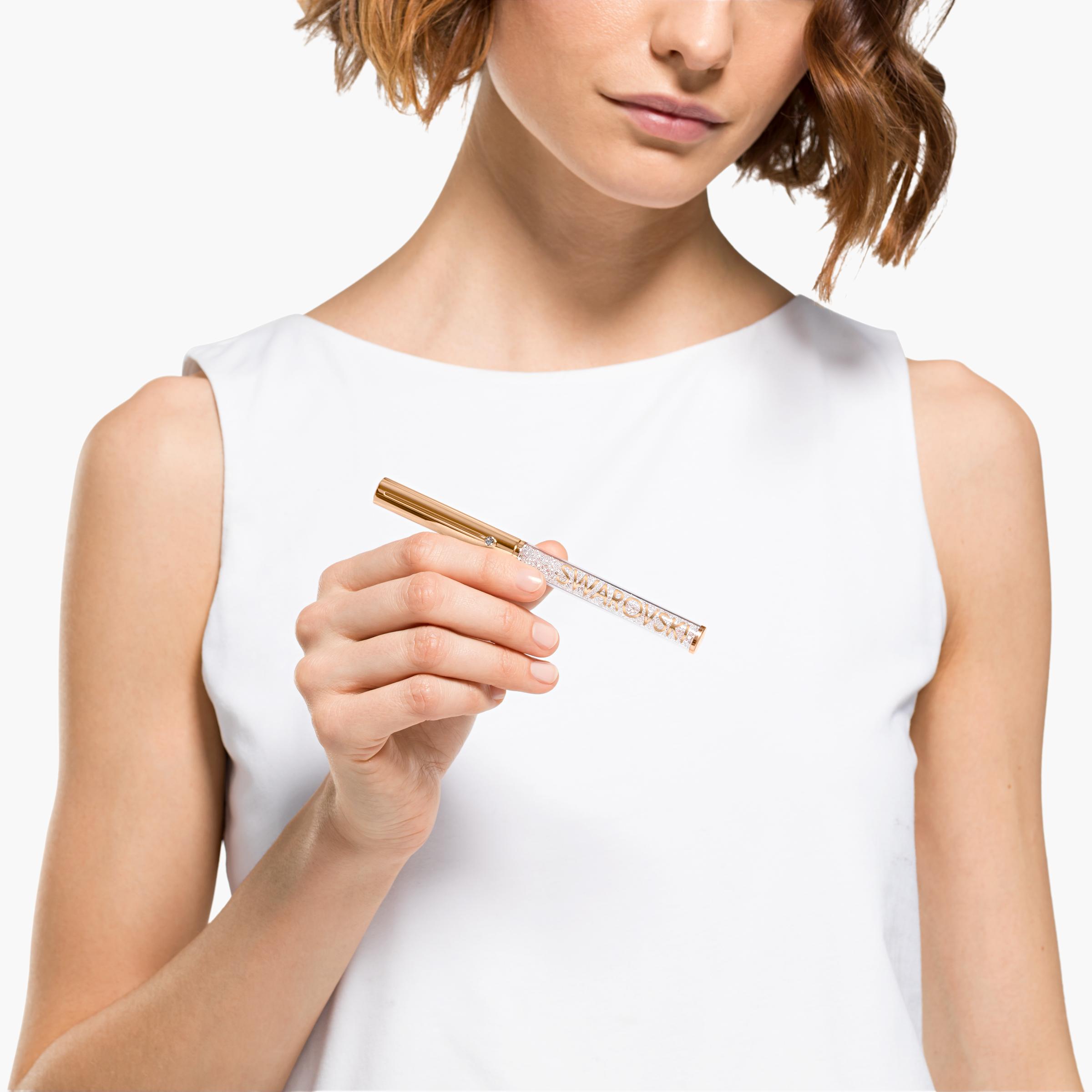 قلم حبر جاف Crystalline Gloss، لون وردي، طلاء ذهبي وردي