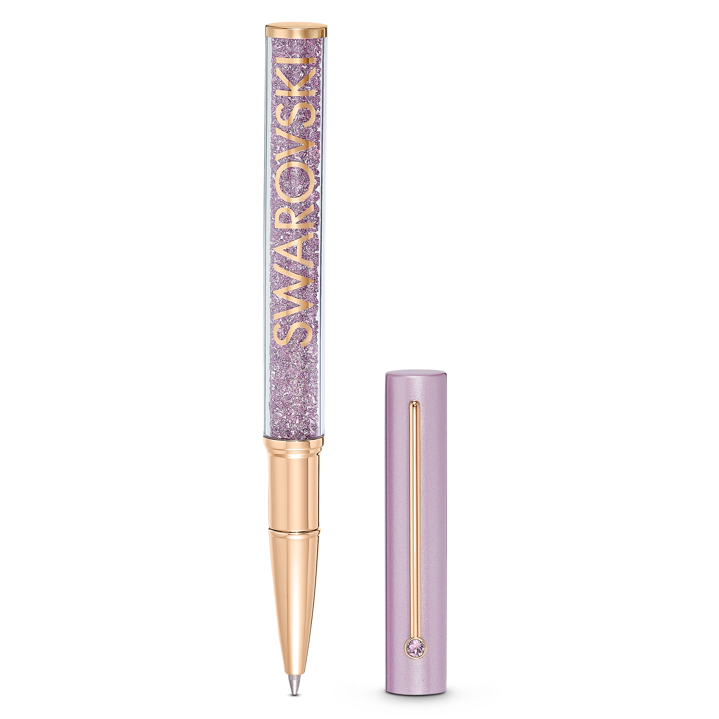 قلم حبر جاف Crystalline Gloss، لون أرجواني، طلاء ذهبي وردي