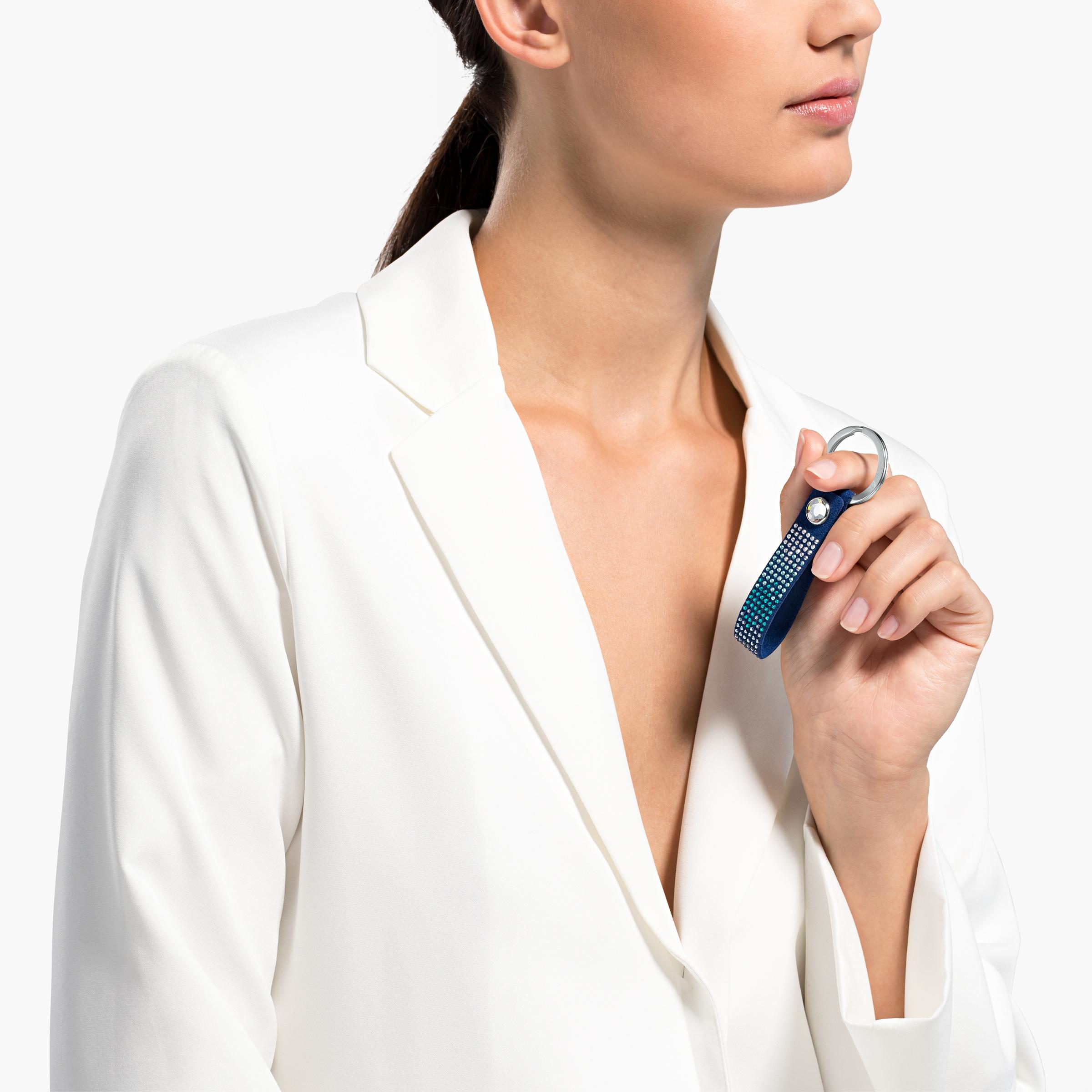 سلسلة مفاتيح الذكرى السنوية، زرقاء اللون، مصنوعة من الإستانليس ستيل