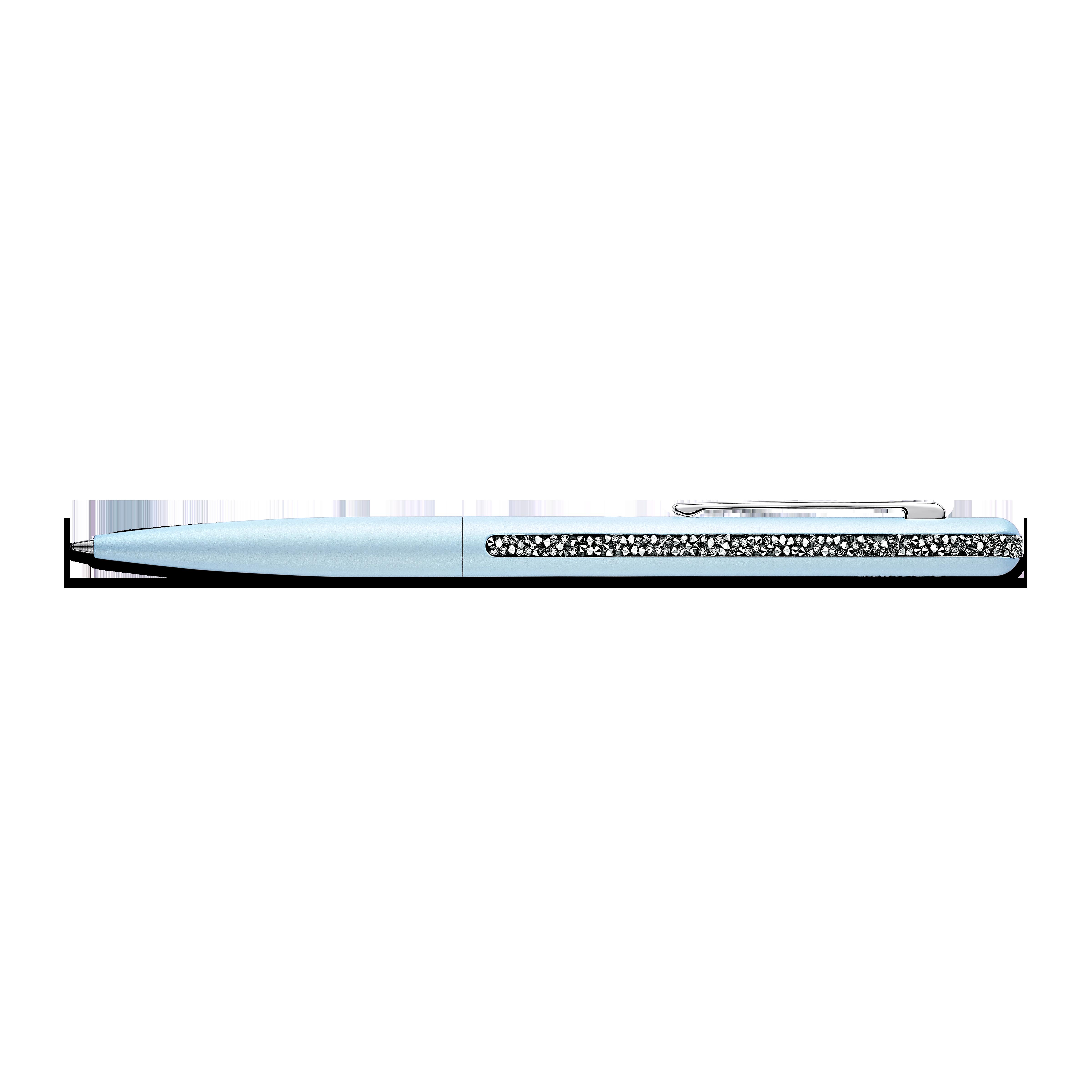 قلم حبر جاف Crystal Shimmer، لون أزرق فاتح، طلاء كروم